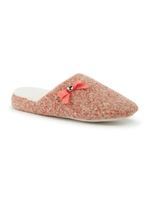 Coral Knitted Slippers