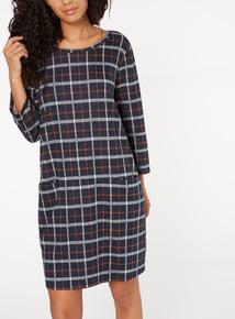 Multicoloured Grid Check Dress