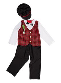 Boys Multicoloured Welsh Boy Costume (3 - 10 years)