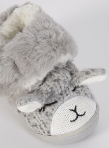 Fluffy Bunny Slippers (4 Infant-13 Infant)