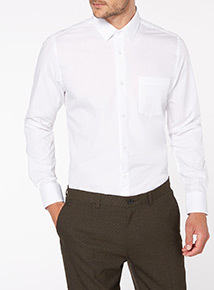 White Tailored Fit Formal Shirts 2 Pack