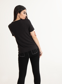 GFW Black Slogan T-Shirt