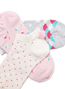 3 Pack Pom Pom Trainer Socks
