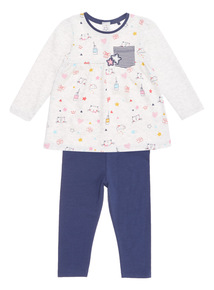 Oatmeal 2Pack Dress and Legging Set (0-24 months)