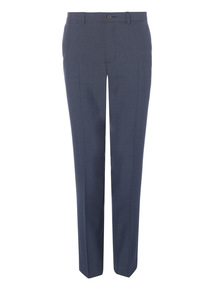 Navy Slim Checked Trousers