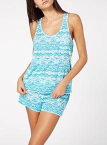 Light Blue Short Pyjama Set