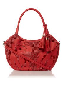 Red Cutwork Bag