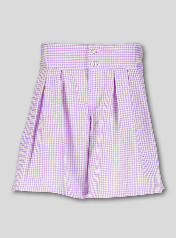 efc56d53a Kids Lilac Gingham School Culottes (3-14 years) | Tu clothing