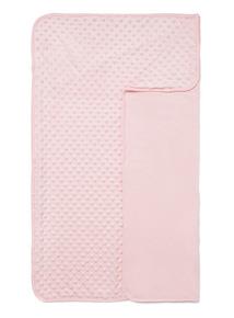 Pink Velboa Blanket (0-24 months)