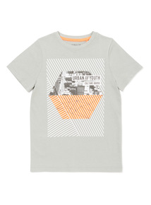 Grey 'Urban Youth Culture' Print T-Shirt (3-14 years)