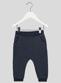 Navy Textured Joggers (0-24 months)