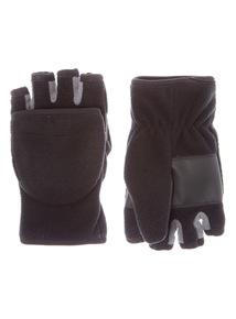 Black Fleece Flip Mittens (3-12 years)