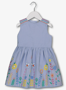 f548f048e8 Blue Floral Detail Occasion Dress (9 months - 6 years)