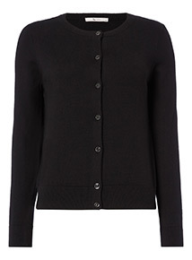 Black Button Through Cardigan
