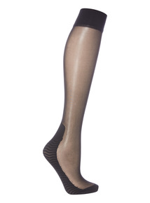 Black Cushion Sole Knee Highs 2 Pack