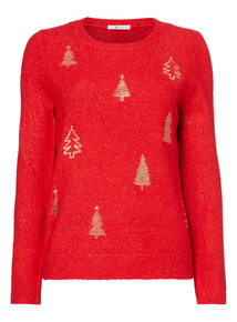 Embroidered Christmas Tree Jumper
