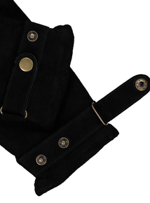 Toasties By Totes Black Suede Gloves