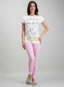 02d61e877d3 Disney Eeyore White   Pink Pyjamas