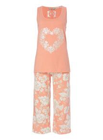 Orange Vest And Trousers PJ Set