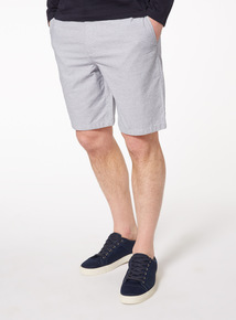 Navy and White Stripe Chino Shorts