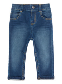 Boys Blue Loopback Jeans (0-24 Months)