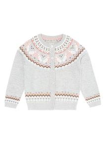 Grey Owl Story Cardigan (9 months-6 years)