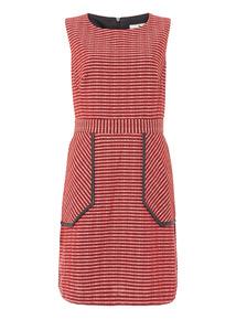Textured Pocket Detail Dress