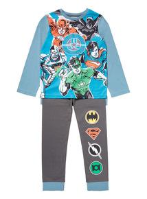Blue Justice League Pyjama Set (2-12 years)