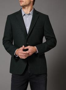 Green Donegal Wool Mix Tweed Jacket