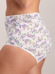 Pink Floral Print Full Knickers 5 Pack
