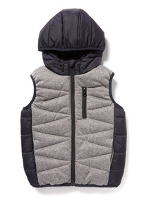 Charcoal Colour Block Gilet (3-14 years)
