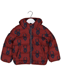Multicoloured Stag Print Puffer Jacket (9 months-6 years)