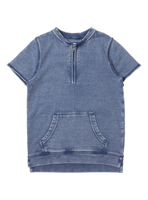 Boys Blue Acid Wash Sweat Top (3 - 14 years)