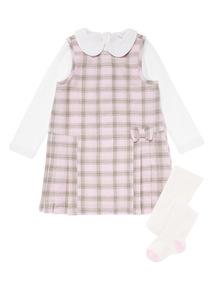 Girls Pink Check 3 Piece Set (0-24 months)