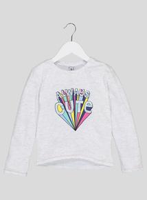 Multicoloured 'Always Cute' Slogan Top (9 Months - 6 Years)
