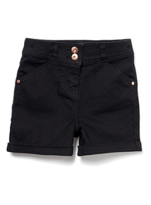 Black High Waist Denim short (3-14 years)