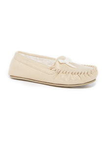 Cream Sparkle Moccasins