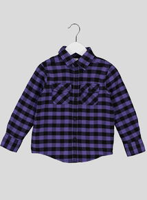 Purple Check Shirt (3-14 Years)
