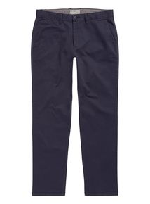 Navy Slim Fit Chinos With Stretch
