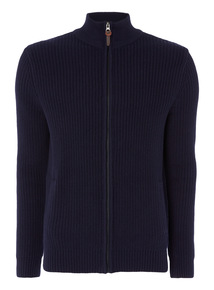 Navy Funnel Neck Jumper