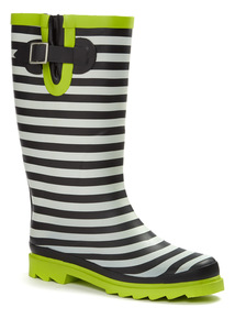 Multicoloured Stripe Rubber Welly