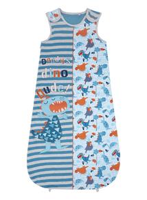 Boys Blue Dinosaur Sleeping Bag (0-24 months)