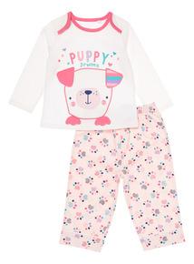 Pink Puppy Pals Pyjama Set (3-24 months)