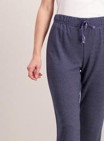Navy Spot Pyjama Bottoms