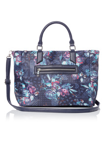 Multicoloured Printed Nylon Handheld Bag