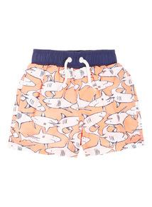 Multicoloured Shark Swim Shorts