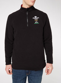 Official Licensed Wales Rugby Black Fleece