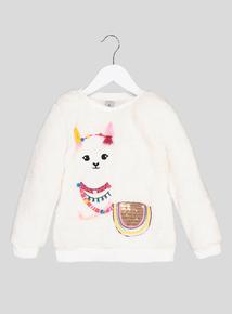 Cream Llama Fleece (3-14 years)