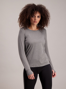 Active Grey Long Sleeve T-Shirt