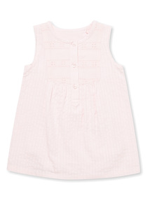 Pink Woven Dress (Newborn-12 months)